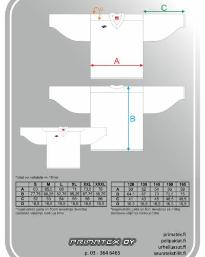 Kategorian kuva Jääkiekkopaidan mittataulukko